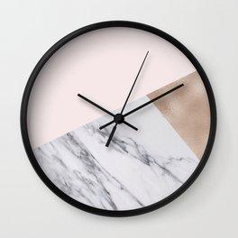 Rosy layers Wall Clock