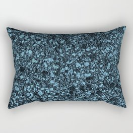Dark Aqua Granite Marble Rectangular Pillow