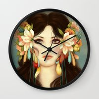 helen Wall Clocks featuring Helen of Troy by Maribellum
