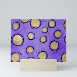 Dots (Purple & Gold) Mini Art Print