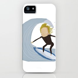 Chris the surfer iPhone Case