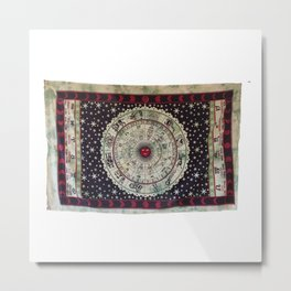 Zodiac Horoscope Wall Tapestry Metal Print