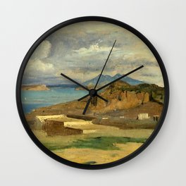Jean-Baptiste-Camille Corot - Ischia, view taken from the slopes of Mount Epomeo Wall Clock