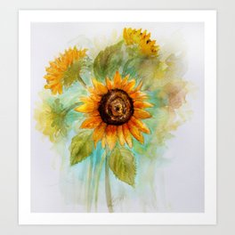 Sunflower - Watercolor Art Print