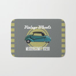 Vintage Wheels - Messerschmitt kr200 Bath Mat