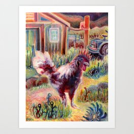 Boss of the Barn Art Print
