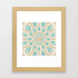 MMMOYSTERS Gold-Rimmed Oyster Mandala Framed Art Print