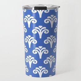 Floral Pattern Blue 243 Travel Mug
