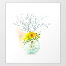 Little Vase Of Flowers Art Print
