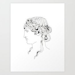roman head Art Print
