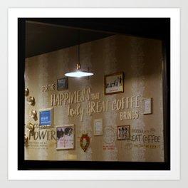 Happiness of Coffee Art Print
