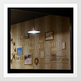 Happiness of Coffee Art Print