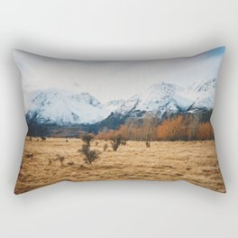 Peaceful New Zealand mountain landscape Rectangular Pillow