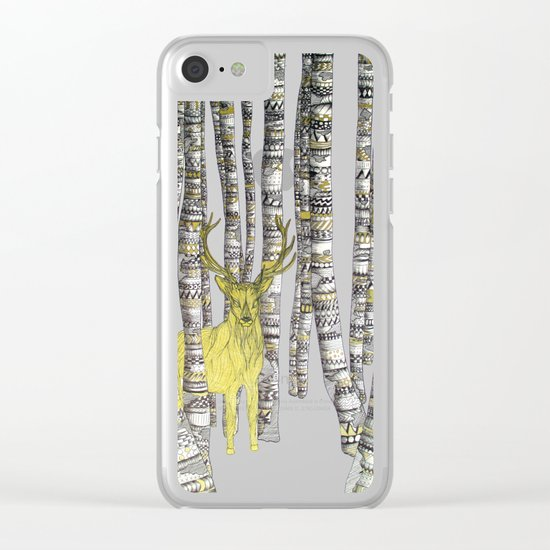 The Golden Stag Clear iPhone Case