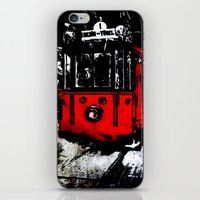 subway iPhone & iPod Skins featuring subway by gizem sevinç
