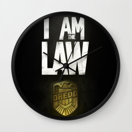 I Am the Law - Judge Dredd Wall Clock