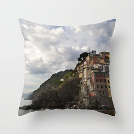 A taste of color and culture in Cinque Terre Throw Pillow