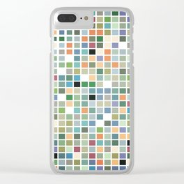 RAINBOW TILES Abstract Art Clear iPhone Case
