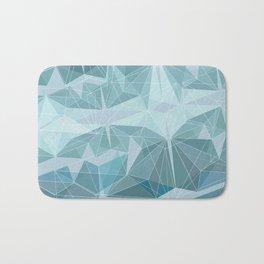 Winter geometric style - minimalist Bath Mat