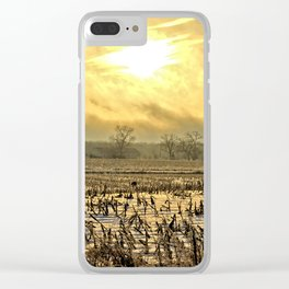 Overcast Sunrise 2 Clear iPhone Case