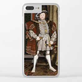 Portrait of Henry VIII - After Hans Holbien the Younger Clear iPhone Case