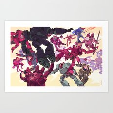 The Battle of Cats and Dogs Art Print