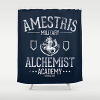 alchemy Shower Curtains featuring Alchemy Academy by TeeKetch