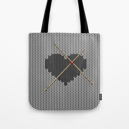 Original Knitted Heart Design Tote Bag