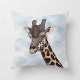 Giraffe Fun Throw Pillow