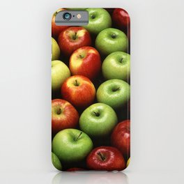 Red and Green Apples Displayed In A Pattern iPhone Case