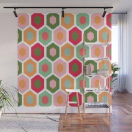 ikat honeycomb tutti fruit #homedecor Wall Mural