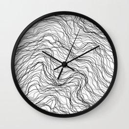 Black veins Wall Clock