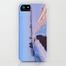 II - Lake and dike at sunrise in winter in The Netherlands iPhone Case
