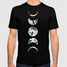 Lunar Nature LARGE Black Mens Fitted Tee
