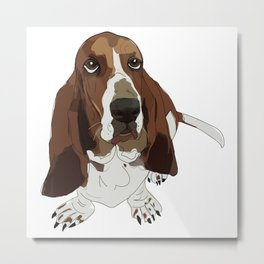 Basset Hound Dog Metal Print