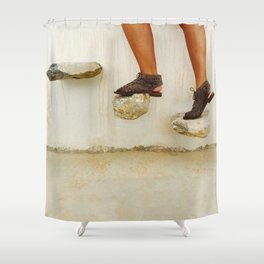 Feet in Greece Shower Curtain