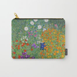 Gustav Klimt Flower Garden Floral Art Nouveau Carry-All Pouch