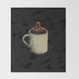 Space Coffee Throw Blanket