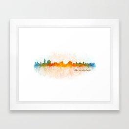 Jerusalem City Skyline Hq v3 Framed Art Print