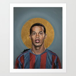 R10 (2006) - Football Icon Art Print