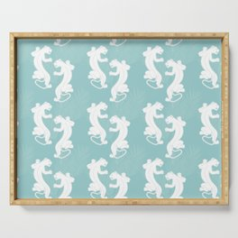 White Panther Serving Tray