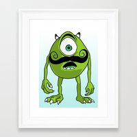 mike wrobel Framed Art Prints featuring Mike by Satanoncrack