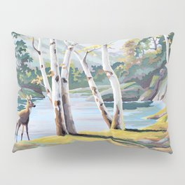 Paint by Numbers Deer Woodland Scene Pillow Sham