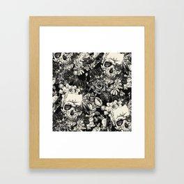 SKULLS HALLOWEEN SKULL Framed Art Print
