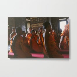 Young Monks Praying Metal Print