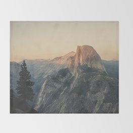 Half Dome III Throw Blanket