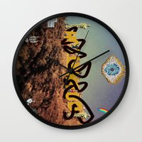 hollywood Wall Clocks featuring hollywood  by Edouard Campos