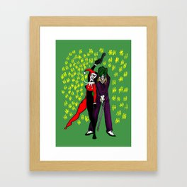 Harley & Joker Framed Art Print