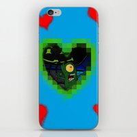 karen hallion iPhone & iPod Skins featuring Plankton & Karen by Iwilldrawyourface