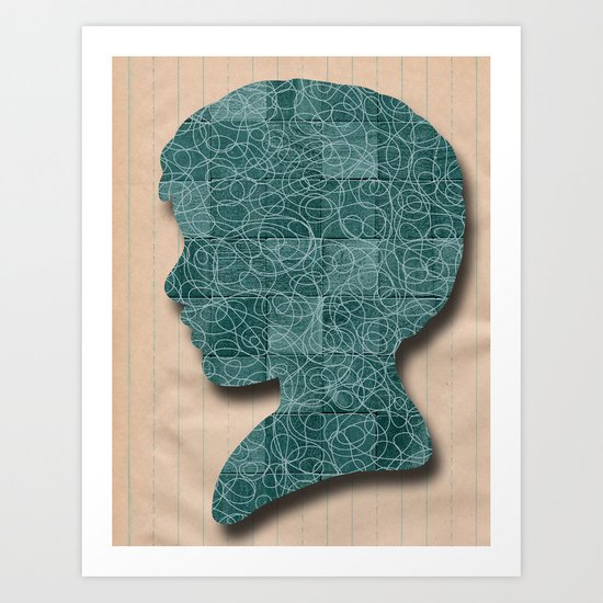 Boy Silhouette Art Print